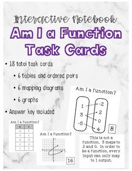 Am I A Function Task Cards