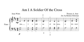 """Am I A Soldier Of The Cross"" Hymn For The Elementary Level Piano Student"