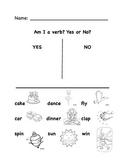 Am I A Verb? Worksheet