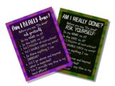 Am I Done? Checklist Posters (Set of 2)