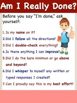 Am I Really Done? Checklist Anchor Chart