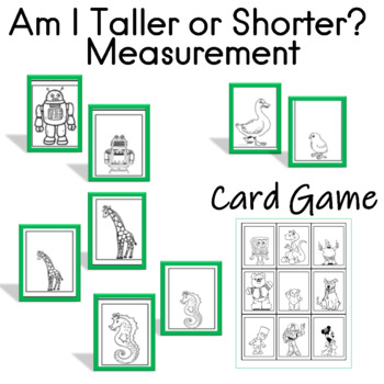 Am I Taller or Shorter? Card Game