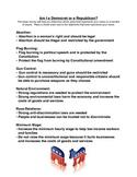 Am I a Democrat or a Republican? (Survey/Worksheet)