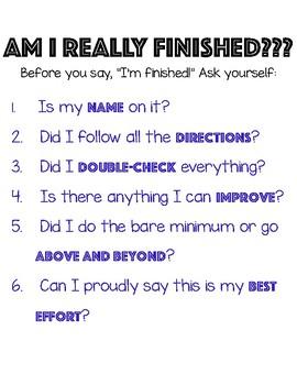 Am I really finished?