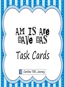 Am Is Are Have Has Grammar Task Cards