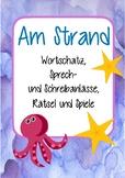 Am Strand - Mega Sommer Set! Deutsch / German Übungen zum Sprechen,Schreiben,DAF