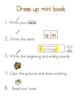 Am sight word mini book