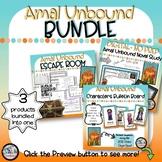 Amal Unbound BUNDLE - Digital Novel Study, Escape Room, Character Bulletin Board
