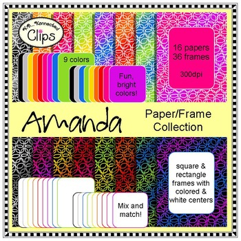 Amanda Frames and Paper Collection