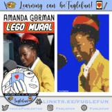 Amanda Gorman, Poet,  Black History Collaborative Lego Mural