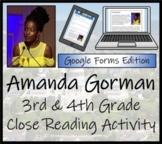 Amanda Gorman Close Reading Activity Digital & Print   3rd