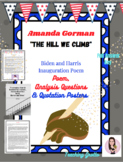 Amanda Gorman. The Hill We Climb. Inauguration Poem and Discussion Questions.