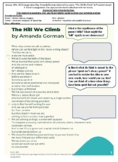 "Remote learning plan Amanda Gorman ""The Hill We Climb"" POEM Lesson /handout"