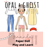 Amanda Gorman Paper Doll; Creative, Inspirational Sheets t