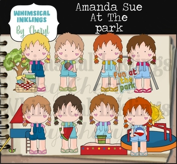 Amanda Sue At The Park Clipart Collection