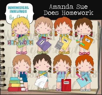 Amanda Sue Does Homework Clipart Collection