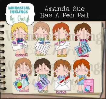 Amanda Sue Has A Pen Pal Clipart Collection