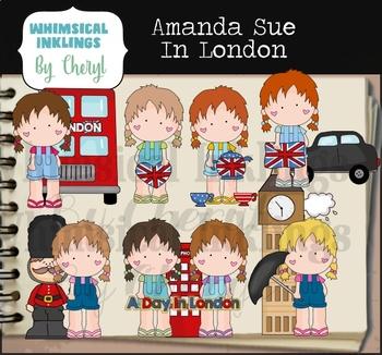 Amanda Sue In London Clipart Collection