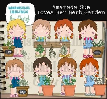 Amanda Sue Loves Her Herb Garden Clipart Collection