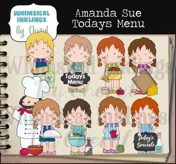 Amanda Sue Today's Menu Clipart Collection