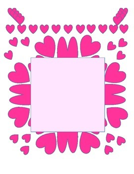 Valentine's Day: (Amara's Valentine cards and Frame) Freebie