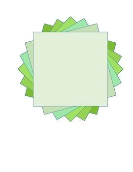 Frames (Amara's Geometric Frames)/ borders