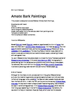 Amate Bark Paintings