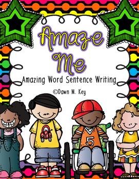 Amaze Me-Amazing Word with Sentence Writing