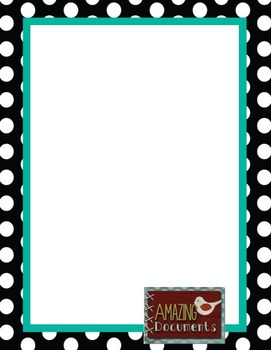 100 Square Polka Dot Border
