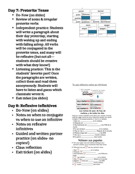 Amazing 12-day set! Reflexive daily routine verbs