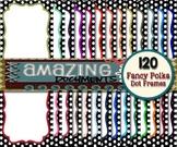 120 Colorful Polka Dot Border