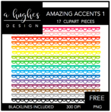 FREE Amazing Accents Clipart Set 1 {A Hughes Design}
