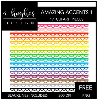 FREE Amazing Accents Clipart Set 1 {A Hughes Design}