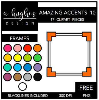 FREE Amazing Accents #10 {Graphics for Commercial Use}