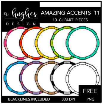 FREE Amazing Accents Clipart Set 11 {A Hughes Design}