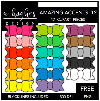 FREE Amazing Accents Clipart Set 12 {A Hughes Design}