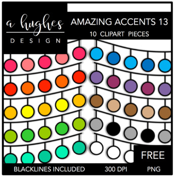 FREE Amazing Accents Clipart Set 13 {A Hughes Design}