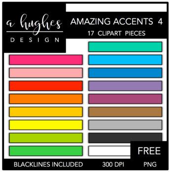 FREE Amazing Accents Clipart Set 4 {A Hughes Design}