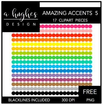 FREE Amazing Accents Clipart Set 5 {A Hughes Design}