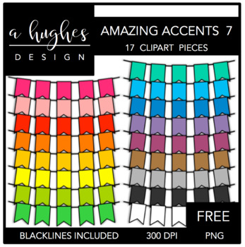 FREE Amazing Accents #7 {Graphics for Commercial Use}