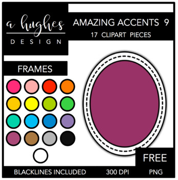 FREE Amazing Accents Clipart Set 9 {A Hughes Design}
