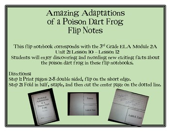 Amazing Adaptations of a Poison Dart Frog Flip Notes