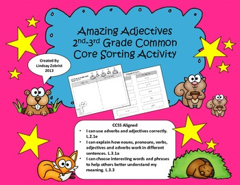 Amazing Adjectives: 2nd and 3rd Grade Common Core Sorting Activity
