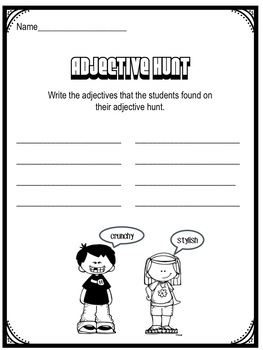 Amazing Adjectives:  A Readers' Theater Script and Activities