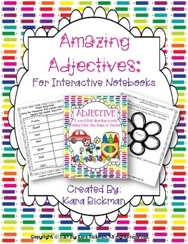Amazing Adjectives: For Interactive Notebooks