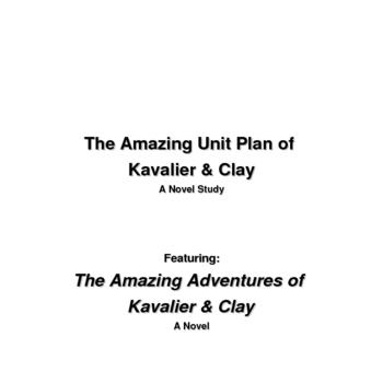 Amazing Adventures of Kavalier & Clay Unit Plan
