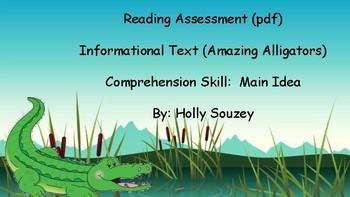 Amazing Alligators Comprehension Passage PDF