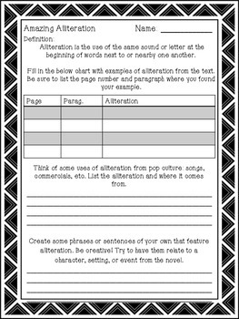Amazing Alliteration - Practice Worksheet