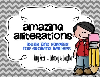 Amazing Alliterations Writing Pack: ideas & supplies for g