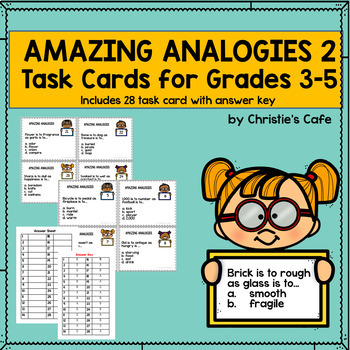Amazing Analogies 2 Task Cards